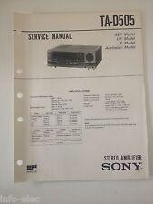 Schema SONY - Service Manual Stereo Amplifier TA-D505 TAD505