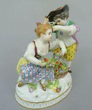 Meissen Figur Allegorie auf den Frühling, Gärtnerkinder mit Blumenkorb Mod.61286