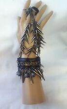 Spikes Leather Wristband Slave Bracelet