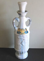 Vintage Beams Choice Whiskey Bottle Decanter Marble Milk Glass Olympics FREE SH