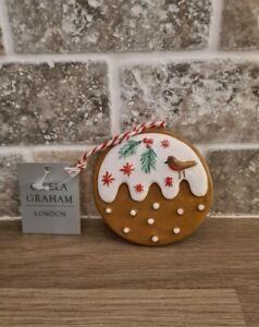 Gisela Graham - Hanging Gingerbread Pudding - Christmas
