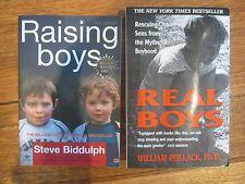 RAISING BOYS, Steve Biddulph & REAL BOYS, William Pollack  x2 pbs