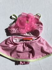 KATE MACK Swimsuit 2T Skirt Cute Bikini Flower Gingham Pink EUC