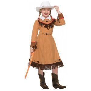 Annie Oakley Costume Kids Cowgirl Halloween Fancy Dress