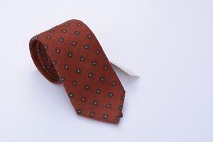 Berg & Berg Orange Medallion Wool Tie