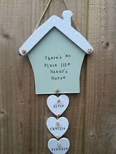 Personalised Wood Plaque Sign House Gift Present Nanny Grandparent Christmas