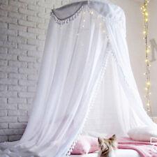 Newborn Kids Baby Ruffle Canopy Mosquito Net Princess Dome Bedding Play Tent