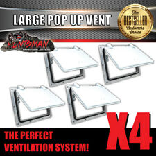 X4 Small White pop up ROOF AIR VENT. Trailer Canopy Camper Caravan Horsefloat