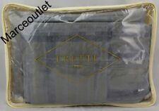 Frette 1860 Windowpane Arredo Cotton Sateen Queen Duvet Cover Khaki / Blue