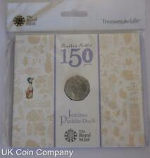 2016 Jemima Puddle Duck Brilliant Uncirculated 50p Coin Pack Beatrix Potter