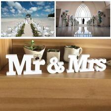 Blanc Mr et Mrs Lettres panneau en bois haut de table Décorations de mariage UP