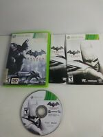 Batman: Arkham City (Microsoft Xbox 360, 2011) Game, Case and Manual