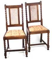 A pair of Antique Oak Dining Chairs - FREE Shipping [PL4511]