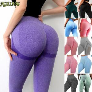 Women Gym Seamless Fitness Leggings High Waist Booty Training Sports Yoga Pants