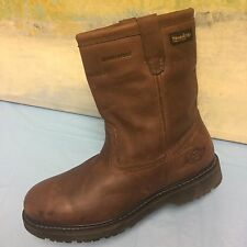 DICKIES  STEEL TOE SAFETY BOOTS WORK SHOES SZ 9.5 M WATERPROOF, THINSULATE