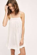 NWT SZ XS $78 ANTHROPOLOGIE EMBROIDERED ZOE SLIP BY ELOISE