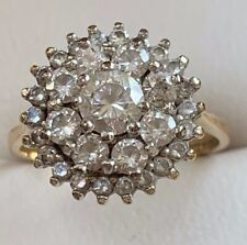 9CT Yellow Gold Engagement/Dress Ring 375 Size M1/2,