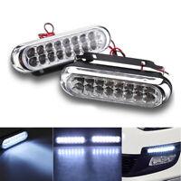 2x Super Bright 16 LED Car Daytime Running Light DRL Fog Day Driving Lamp White