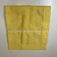 vintage pillowcase color yellow white checkered print king size no brand tag