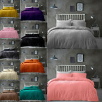 Luxury Popcorn Fleece Duvet Cover Sets Size Pillowcases New Soft Warm Bedding