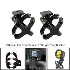 50-76MM Off-road Car Front Bumper LED Light Bracket Bar Mounting Clamp Clip Trim