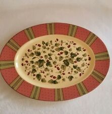 Waverly Garden Room FLORAL MANOR Oval Platter Made in Poland