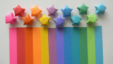 100 rainbow origami lucky star paper strips