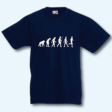 Kinder T-Shirt, Fun-Shirt Kids, Evolution Laufen, Jogging, Marathon, Sport