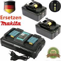 2X 6000mAh18V Akkus für Makita BL1840 BL1850 BL1860 B+Ladegerät mit Led Anzeige