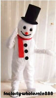 Mascot Snowman Costume Cosplay Christmas Party Suit Adults Fancy Dress Halloween