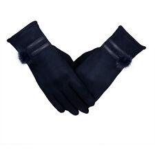 Women Touch Screen Gloves Winter Warm Soft Wrist Gloves Mittens Blue