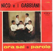 disco 45 GIRI NICO E I GABBIANI ORA SAI - PAROLE