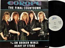 "Europe - The Final Countdown 12"" Single 1986 1st UK Press Epic TA 7127 EX+"
