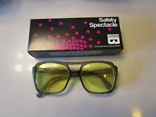 New Rare Vintage Bouton Z87 Smoke Amber Safety Glasses Side Shields Nice !