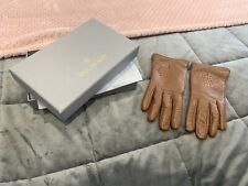 Mulberry gloves - 6 1/2  - brown - leather