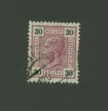 Austria 1905 30h Scott 100 used, Value = $4.75