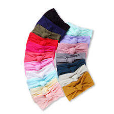 Baby Girl Infant Toddler Headband Wrap Top Tie Knot Soft Single Bow Turban
