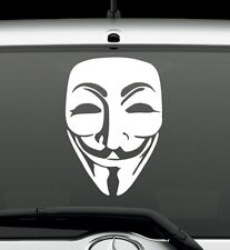Anonymous Mask Conspiracy Hacker Vinyl Decal Wall Sticker Auto Graphics