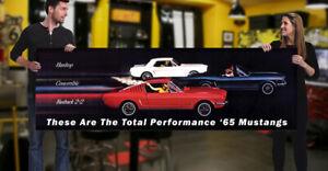 1965 Ford Dealer Garage Banner 289 Hot Rod Muscle car Mustang Fast Back GT