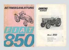 Fiat 850 Betriebsanleitung Schlepper Traktor Original 1969