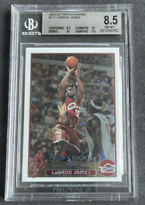 LeBron James 2003 Topps Chrome RC #111 BGS 8.5 (2 X 10 Subs) 🔥 PSA Regrade 9?