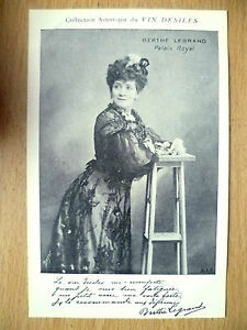 Postcards of Edwardian Theatre & Opera Stars-BERTHE LEGRAND PALAIS ROYAL~Desiles