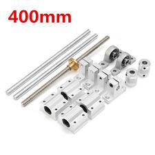 15pcs 400mm CNC Parts Optical Axis Guide Bearing Housings Aluminum Rail Shaft Su