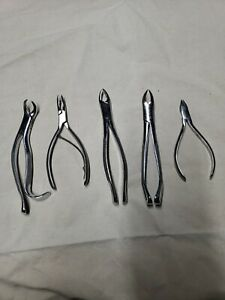 Vintage Dental Tools, Lot Of 5 Tooth Extraction ..B
