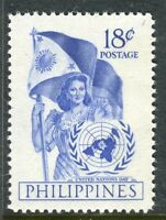 PHILIPPINES;  1951 early UN Day issue Mint MNH Unmounted 18c.