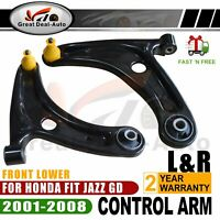 1 Pair Front Lower Control Arm For Honda Fit Jazz GD 2001-2008 51350 51360 SAA