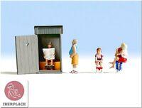H0 escala 1:87 ho figuras modelismo maqueta Escenas retrete Toilet Noch 15560