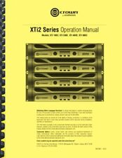 Crown XTi 6002 4002 2002 1002 Amplifier OWNER'S MANUAL and FACTORY BULLETINS