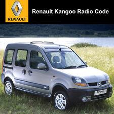 Renault Kangoo radio code Stéréo Décoder voiture Unlock Service rapide UK tous les véhicules