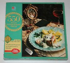 1991 Milton Bradley Betty Crocker Recipe Seafood puzzle - 550 pcs NEW & SEALED